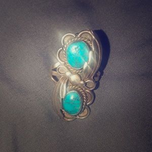 Jewelry - Authentic silver and turquoise ring.